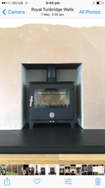 Chilli Penguin log burner, Tonbridge