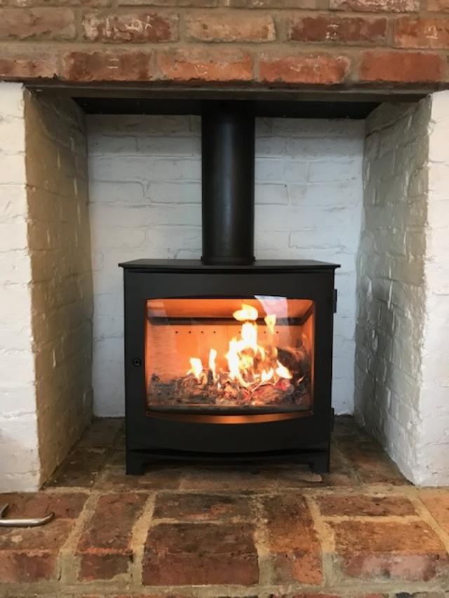 Morso wood burning stove. Cranbrook home.