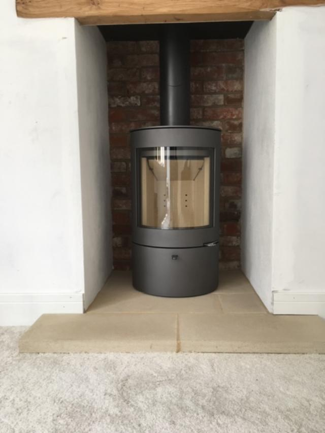 Wadhurst Woodwarm log burner installation