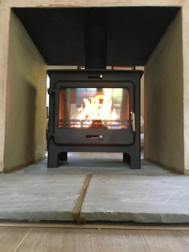 Ekol double-sided wood burning stove