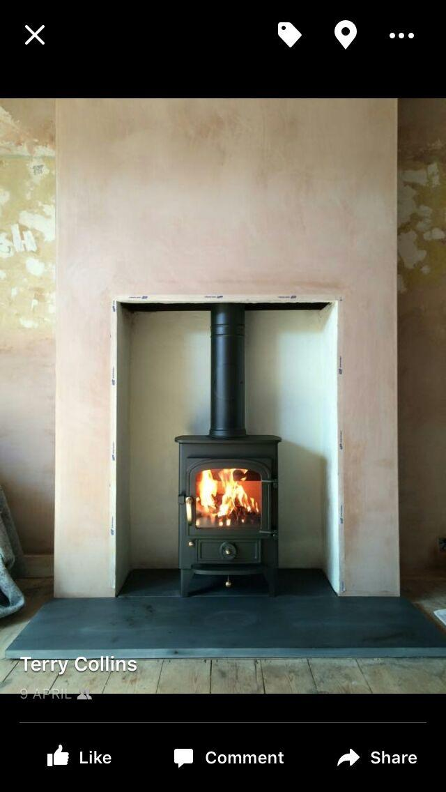 Clearview Pioneer 400 wood burning stove. Supplied and fitted in Cranbrook.